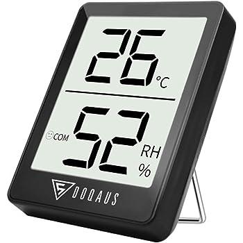 feuchtigkeitsmessger/ät mit Bewegungssensor f/ür Babyraum Wohnzimmer Hospaop Digital Hygrometer Thermometer Innen Raumthermometer Temperatur und Luftfeuchtigkeitmessger/ät mit Hintergrundbeleuchtung