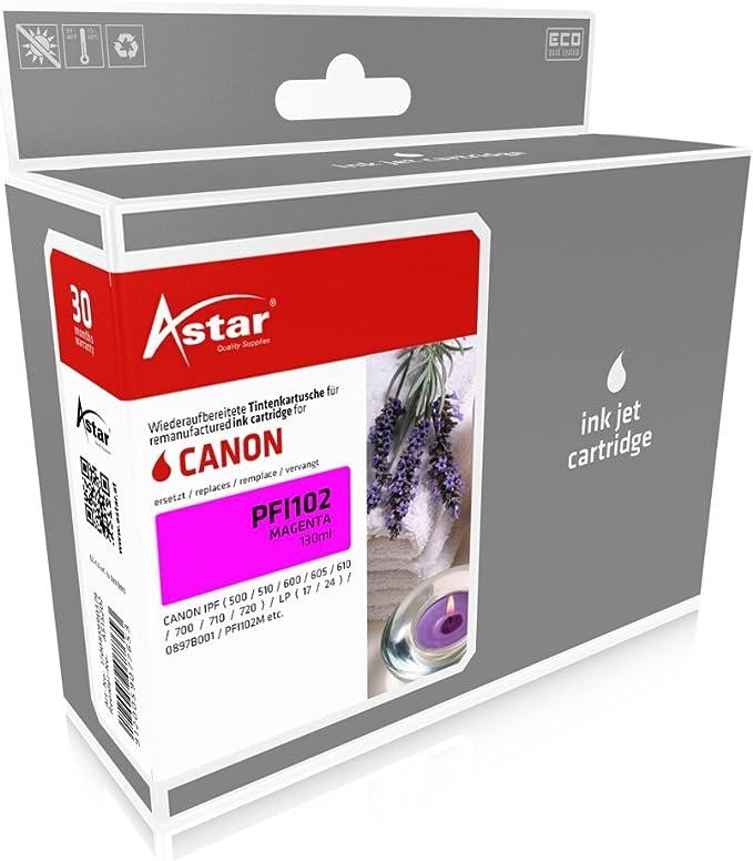 Astar As15602 Tintenpatrone Kompatibel Zu Canon Pfi102 130 Ml Gelb Bürobedarf Schreibwaren