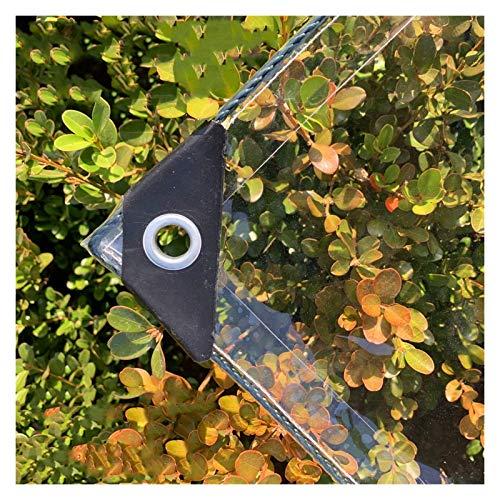 YYFANG Lona Transparente con Ojales,Carpa Impermeable De PVC Transparente para Trabajos Pesados, Dosel De Plantas Espesado Lámina De Plástico con Ojales De Metal, 25 Tamaños