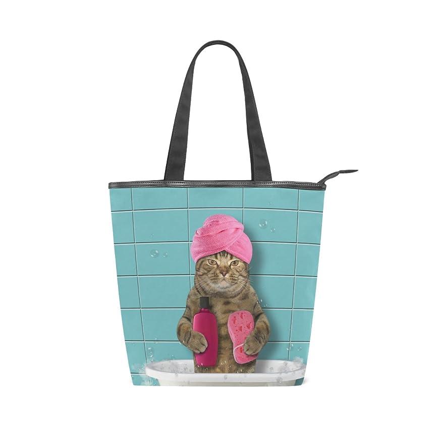 一般的に言えば雄大なフェッチキャンバス バッグ トートバッグ 多機能 多用途2way猫柄 ネコ キャット ショルダー バッグ ハンドバッグ レディース 人気 可愛い 帆布 カジュアル 多機能 両用トートバッグ ァスナー付き ポケット付 Natax