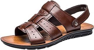 Sandalias Deportivas Verano Senderismo Hombres Playa Zapatos Sandalias de Ocio Zapatilla de Cuero para Exterior Sandalias ...