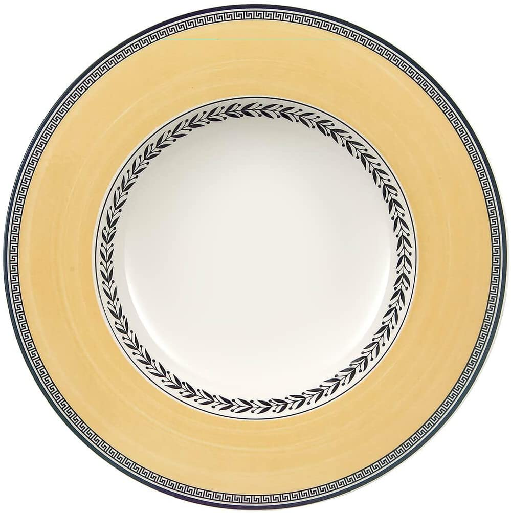 Safety Tampa Mall and trust Villeroy Boch Audun Fleur Rim Soup in Gray Yellow White 9.5