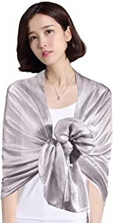 Womens Large Solid Sarong Soft Silky Bridal Evening Wedding Party Scarf Shawl Wraps