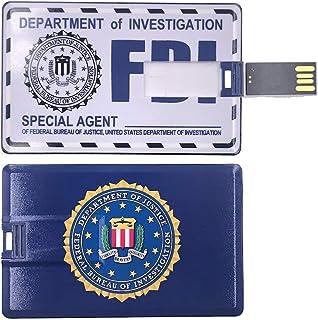 ذاكرة فلاش يو إس بي سعة 64 جيجابايت محرك أقراص الإبهام يو إس بي 2.0 عصا ذاكرة FBI/CIA ملحقات شهادة الهوية تصميم مقاوم للماء