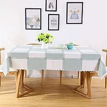 HKPLDE Rectangular Manteles Vinilo Impermeable PVC, Mantel Grande Manteles Mesa Comedor Antimanchas Prueba De Polvo Manteles Mesa para Cocina Los Restaurantes-90x90cm/35x35inch-B