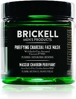 """Brickell Men""""s Purifying Charcoal Face Mask - Natürliche und organische Aktivkohle Maske - Gesichtsmaske mit entgiftender Kaolin Tonerde - Männer Facemask gegen unreine Haut - 118 ml - Parfümiert"""