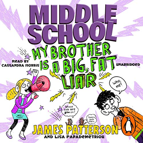 Middle School: My Brother Is a Big, Fat Liar audiobook cover art
