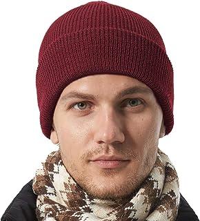 Teeoff Beanie Hat 50% Wool Daily Warm Soft Winter Knit Ski Skull Cap