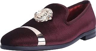 ELANROMAN Men's Luxury Wedding Party Dance Prom Loafers Velvet Shoes 11 Color