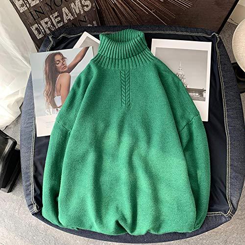 Suéter Delgado De Invierno De Cuello Alto Sólido para Hombre, Suéter De Punto Harajuku De Moda Coreana para...