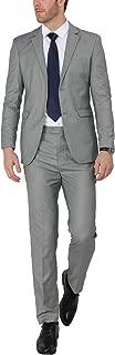 Men's Slim Fit 2-Piece Suit One Button Blazer Wedding Tuxedo Single Breasted Jacket Pants Set