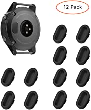 KELIFANG Dust Plug Garmin Fenix 5, 5S, 5X, Plus, Silicone Anti Dust Cap Charger Port Protector Fenix 5, 5S, 5X,Plus, Vivoactive 3 Smartwatch, 12 Pack
