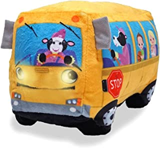 Cuddle Barn Animated Toy Wheelie Singing School Bus - Sings Wheels on The Bus
