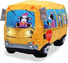 Cuddle Barn Animated Toy Wheelie Singing School Bus - Sings Wheels on The Bus