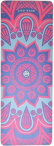 Tapis de Yoga 5mm en Caoutchouc Naturel pour Homme et Femme Fitness Mat Professionnel élargissant Tapis de Yoga Anti-dérapant Tapis de Sport JSSFQK (Couleur   E)