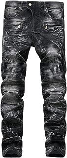 KUYIGO Men's Skinny Slim Fit Stretch Straight Leg Fashion Jeans Pants