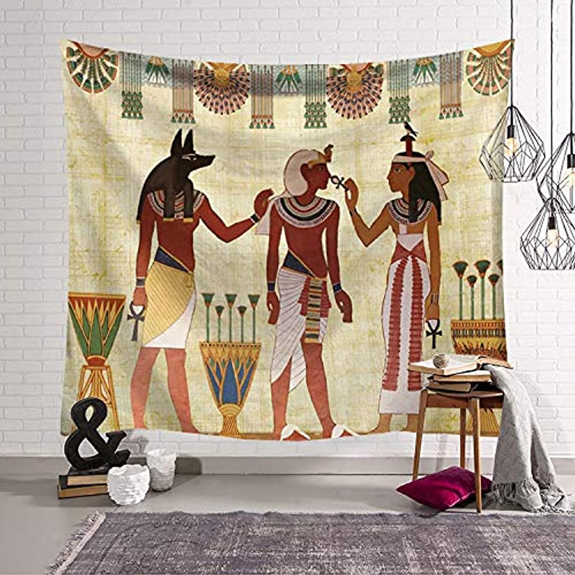 QCWN Egyptian Tapestry Wall Hanging Egyptian Ancient Religion Historical Tapestry Backdrop Cloth Egypt Egyptian Character for Home Dorm Living Room Decor. Multi 78x59Inc