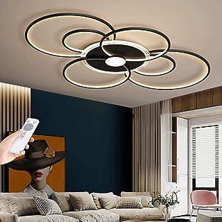 Plafonnier LED Salon Lampe Plafond Dimmable Moderne Éclairage De Plafond Télécommande Couleur De La Lumière/Luminosité Lus...