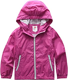 M2C Boys Quick Dry Full-Zip Hooded Light Windproof Windbreaker Jacket
