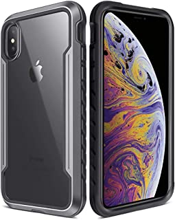 iPhone Xs Max Case, Military Grade Drop Tested, Anodized Aluminum Frame TPU Polycarbonate Protective Case for Apple iPhone Xs Max 6.5 inch- Gray