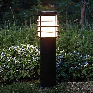 Ailtb IP55 Waterproof Modern Outdoor Lawn Lantern High Pole Light Industrial Pillar Column Lamp Round Acrylic Aluminum External Post Bollard Light E27 Decoration Patio Landscape Lighting