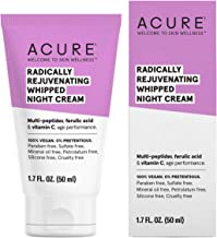 product image for ACURE Radically Rejuvenating Whipped Night Cream | 100% Vegan | Provides Anti-Aging Support | Multi-Peptides, Ferulic Acid & Vitamin C - Hydrates & Rejuvenates | 1.7 Fl Oz