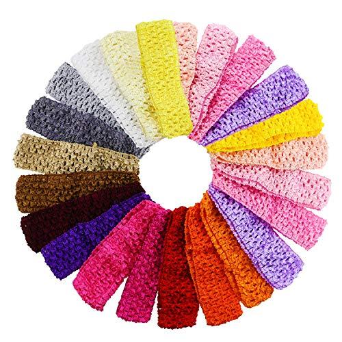 20PCS Fireboomoon Baby Girl Headbands Elastic Crochet Hair Band Hair Accessories,Boutique Girls Stretch Headbands girl,baby,headbands,hair,baby girl,hair accessories,crochet hair,baby headbands