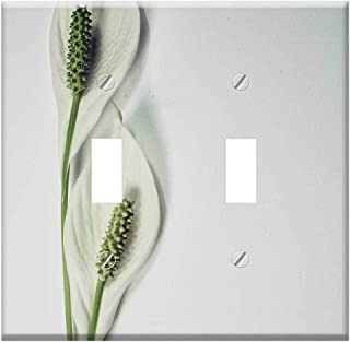 Switch Plate Double Toggle - Peace Lily Flower Plant Lily Bloom Botany