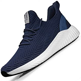 Mens Slip On Walking Shoes Blade Non Slip Running Shoes Lightweight Breathable Mesh Fashion Sneakers