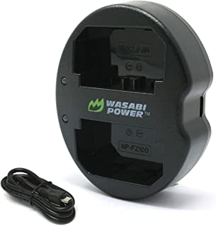 Wasabi Power Battery Charger for Sony NP-FZ100, BC-QZ1 and Sony a9, a9 II, a7R III, a7R IV, a7 III, a7 IV, a6600