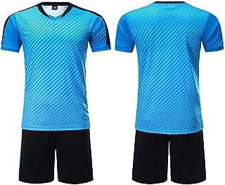Pantalones de Jersey de fútbol de Manga Corta Conjunto de chándal de Atletismo para niños Shorts Negros para jóvenes
