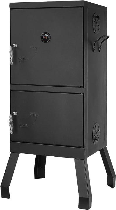 Barbecue a carbone, 102 * 40,5 * 37,5cm, affumicatore barbecue, griglia quadrata a carbone con termometro B08SK48G9L