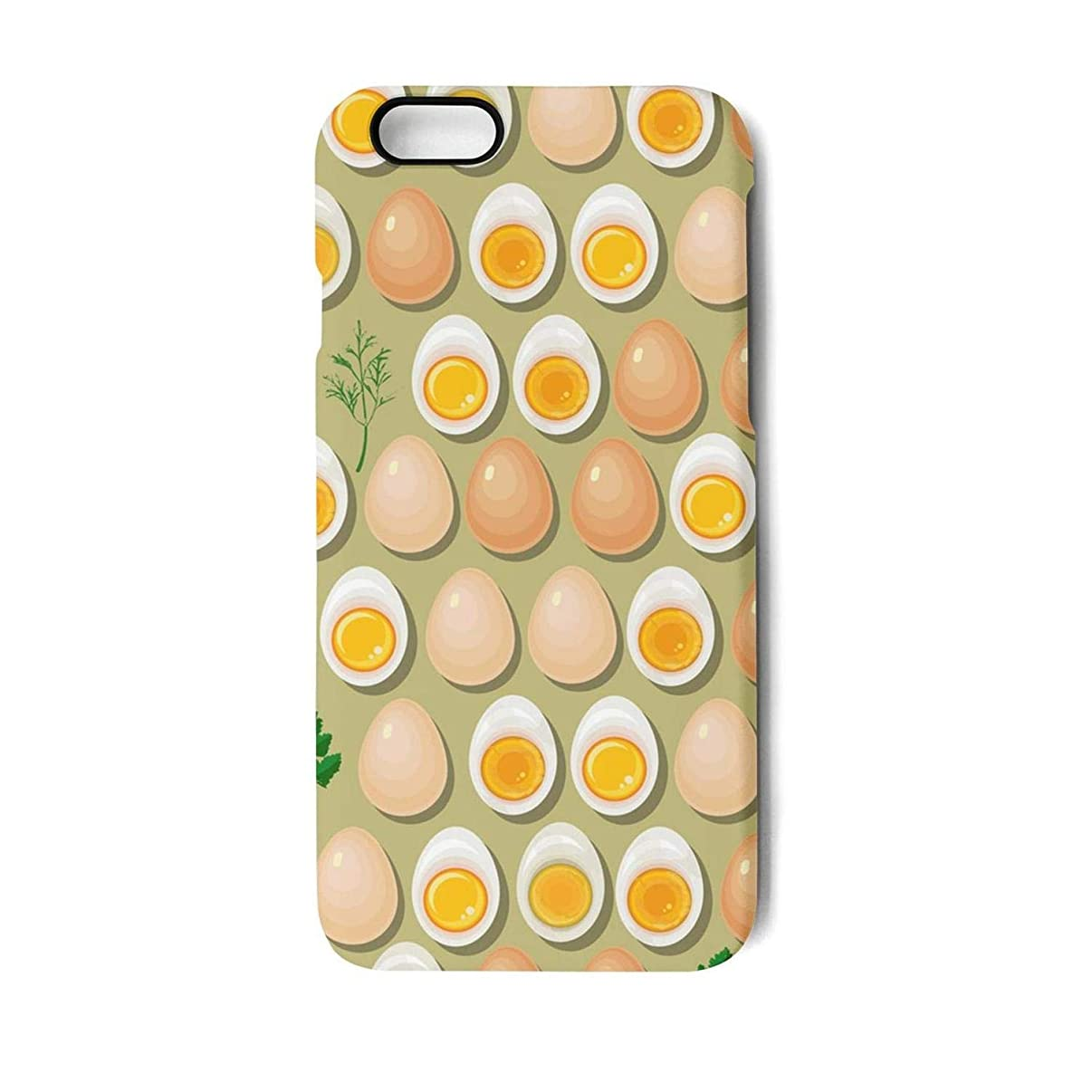 SJSNBZ Eggs yolks Parsley Phone Case Back Cover iPhone 7 iPhone 8 Cool TPU PC Matte Anti-Scratch Non Slip Anti Finger Print