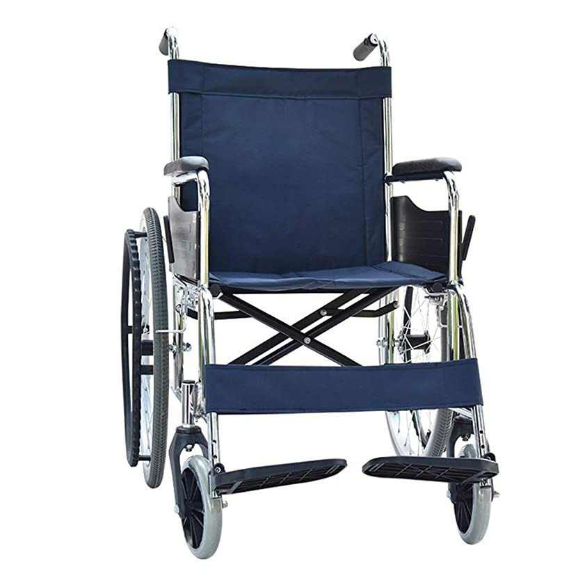 ラッチトムオードリースキャロライン車椅子折りたたみ式、高齢者、障害者用トロリー、調節可能なフットペダル、リアストレージバッグデザイン