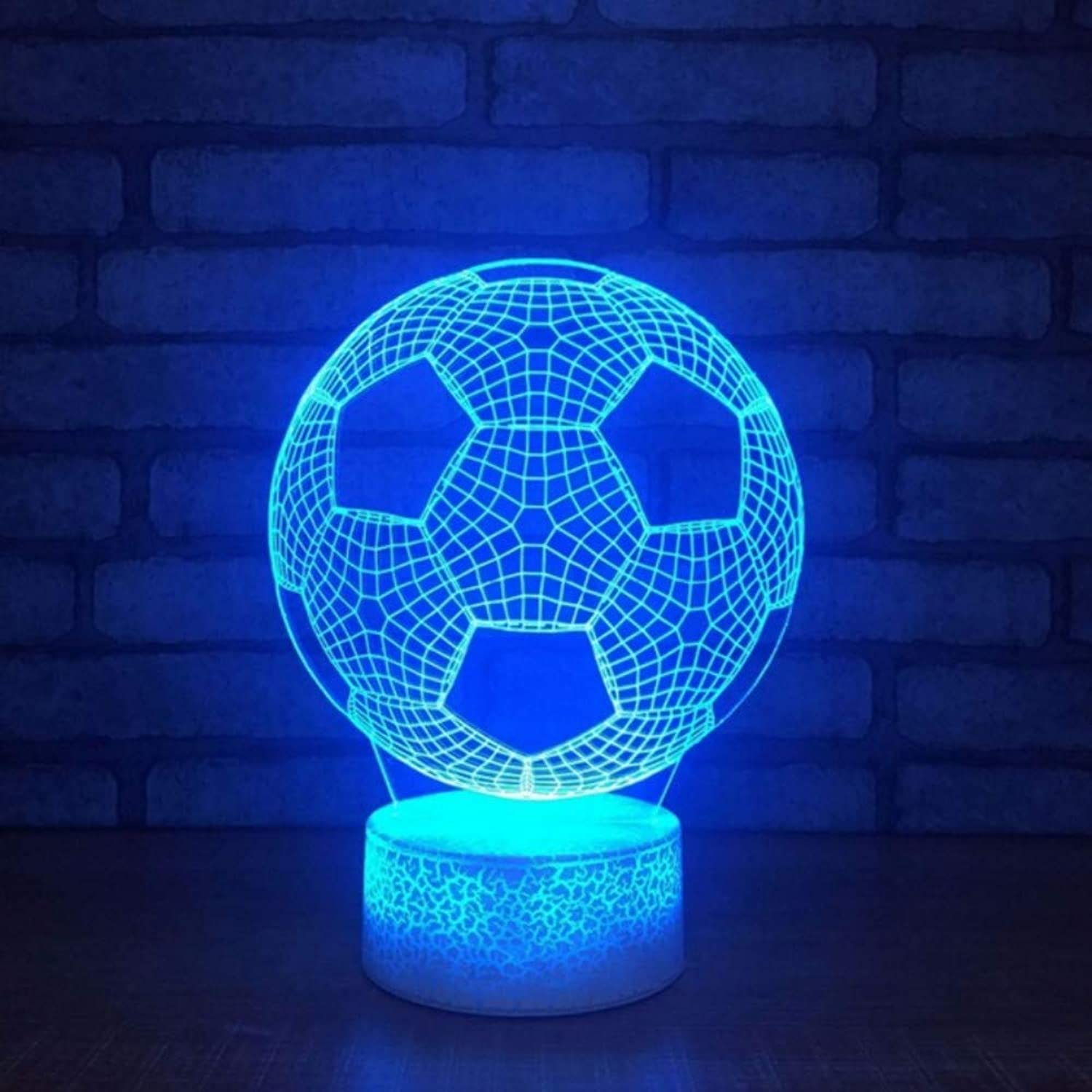 Zonxn Home Decor Bedroom colorful Gradient Football Shapes Touch Button 3D Led Visual Night Lights Table Lamp Mood Lighting Decoration