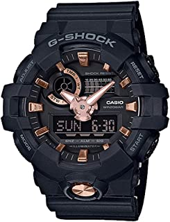 G-Shock GA710B Ana-Digi Black Rose Gold