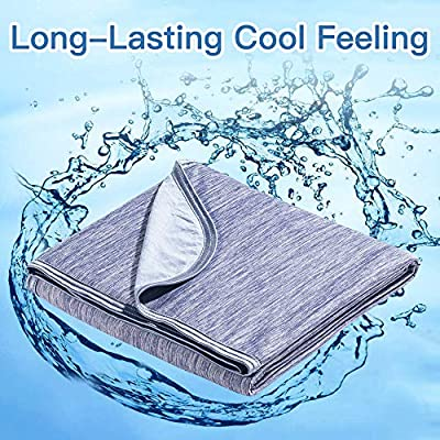Marchpower Cooling Blanket, Latest Cool-to-Touch Technology, Lightweight Cool Blanket for Sleeping Night Sweats, Breathable Summer Cool Blanket for Couch Sofa Bed