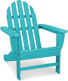 Hanover Classic All-Weather Adirondack Chair in Aruba Blue, HVAD4030AR Outdoor Furniture