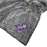 Go Greek Chic Chi Omega Embroidered Sherpa Throw Blanket