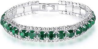 UINKE Shining Diamond CZ Tennis Bracelet Wrist Cuff Valentine`s Day Mother`s Day Birthday Gift