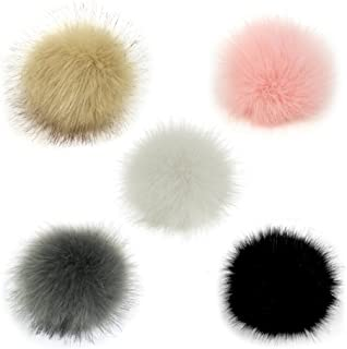 Gosear 5 Piezas 10 cm Faux Piel esponjosa Pom Pom Ball con