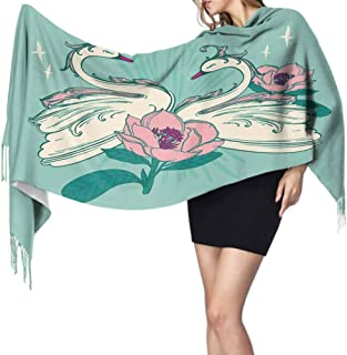 Placement Pattern Vector files Bird Swan Satin Scarf For Natural Hair Unisex Fashionable