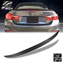 AeroBon Performance Style Real Carbon Fiber Trunk Spoiler for 13-19 BMW F33 4-Series & F83 M4 Convertible