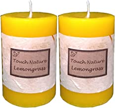 Touch Nature Double Aromatherapy Candles (Lemongrass)