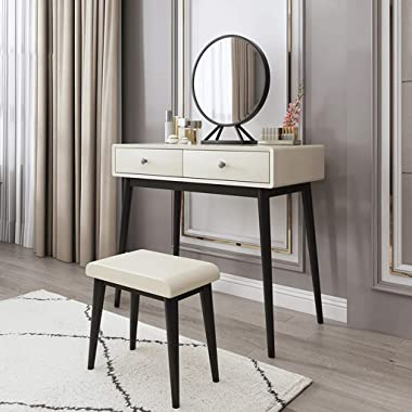 Makeup Table Vanity Bedroom Dresser Set Home Dressing Table Girls Bedroom Dressing Table with Drawer Dressing Table and Chair