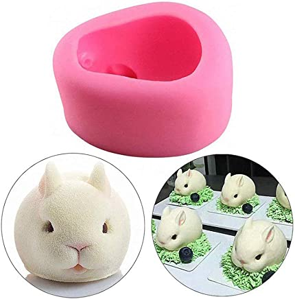 MoldFun 3D Rabbit Bunny Silicone Mold for Chocolate, Cake Decorating, Soap, Candy, Fondant, Crayon, Lotion Bar