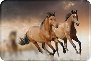 Galloping Brown Horse Home Décor Doormat for Indoor/Outdoor Bathroom/Kitchen/Bedroom/Entryway Floor Mats£¬Non-Slip Door Mat
