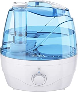 Homasy [Upgraded] Cool Mist 2.2L Ultrasonic, 28dB Quiet BPA-Free Air Humidifier for Bedroom, Independent Power Adapter, 30...