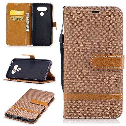 Jeewi Hülle für LG G6 / G6 Plus Hülle Handyhülle [Standfunktion] [Kartenfach] [Magnetverschluss] Tasche Etui Schutzhülle lederhülle klapphülle für LG G6 (H870) - JEBF030887 Braun
