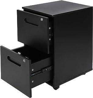 Classeur de Bureau Mobile avec 2 tiroirs Conteneur Roulant Armoire de Bureau verrouillable Coffre de Rangement Mobile pour...